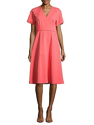 lafayette 148 new york female kaylee solid vneck dress