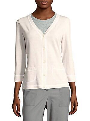 Textured Cotton-Blend Cardigan