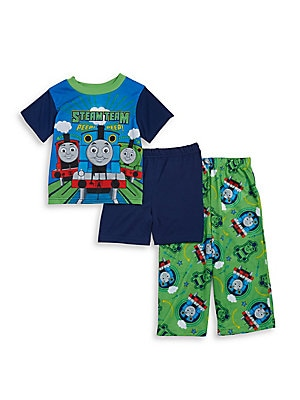 Little Boy's Thomas the Tank Engine Pajama Tee, Shorts and Pants Set