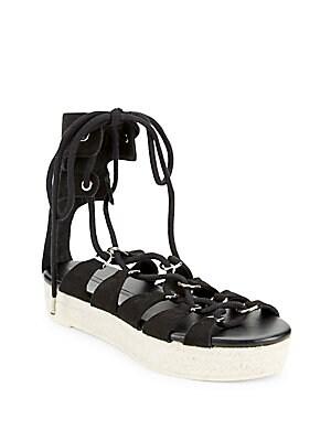 Leather Wrap-Around Sandals