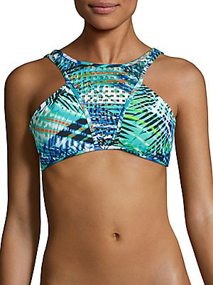 Printed Cutout Bikini Top