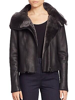 Claudette Shearling Moto Jacket