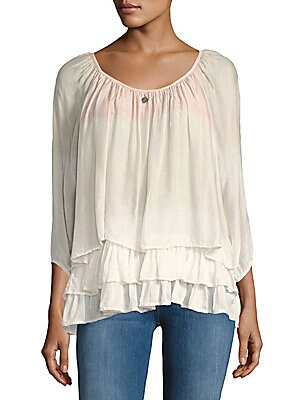 Silk-Blend Layered Top