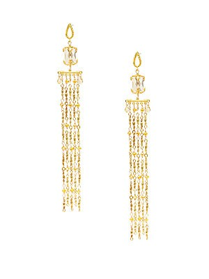 22K Yellow Goldplated Linear Drop Earrings