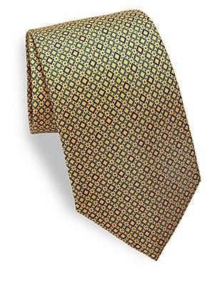 Box Printed Silk Tie
