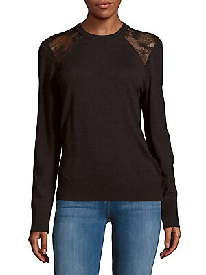 Shane Lace-Panel Top