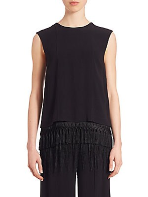 Tiered Fringe Hem Top