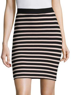 Stripe Fitted Skirt ATM Anthony Thomas Melillo