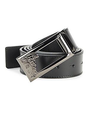Solid Logo Leather Belt