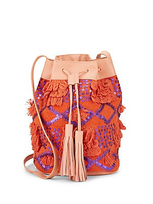 Sequined Bucket Bag