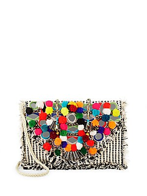 Pom-Pom Embellished Bag