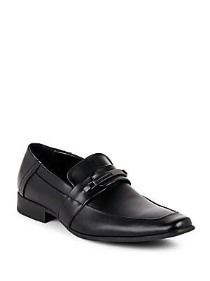 Block-Heel Slip-On Loafers