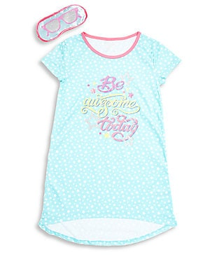 Girl's Printed Hi-Lo Pajama Dress