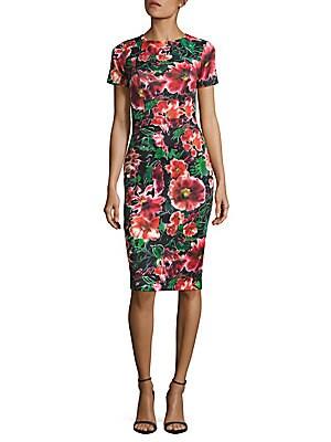 Floral-Printed Sheath Dress