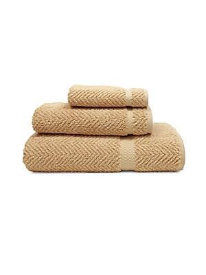 Herringbone Turkish-Cotton Towel/Set Of 3