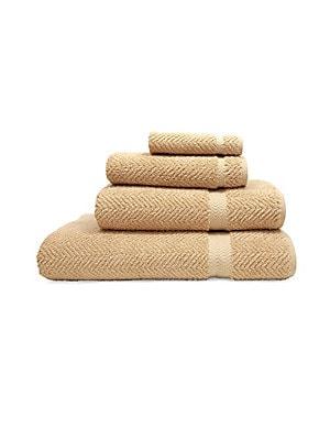 Herringbone Turkish Cotton Bath Towels/Set of 4