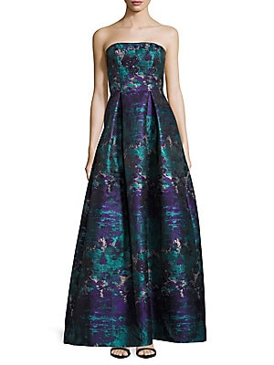 Strapless Brocade Gown