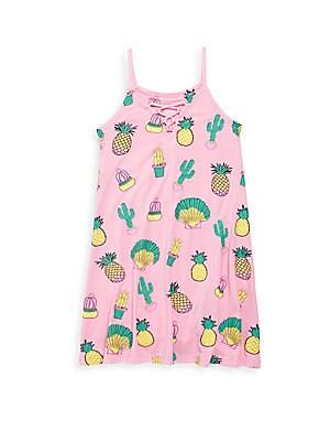 Girl's Cactus Printed Dress