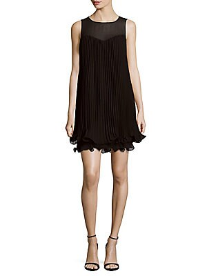 Accordion Pleated Ruffle Dress