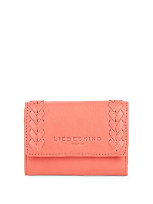 Crisscross Leather Wallet