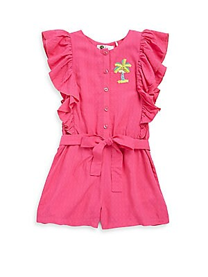 Little Girl's & Girl's Paradise Ruffled Romper