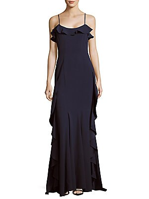 Ruffled Squareneck Gown