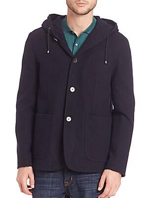 MODERN Hooded Wool Coat