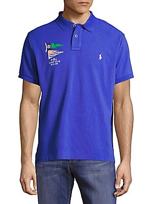Custom-Fit Logo-Patch Cotton Polo