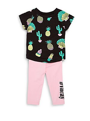 Baby's Printed Top and Pants Set