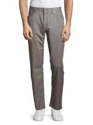 RALPH LAUREN Flat-Front Cotton Pants