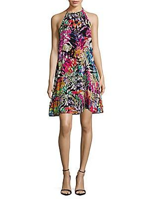 Abstract Printed Halter Dress