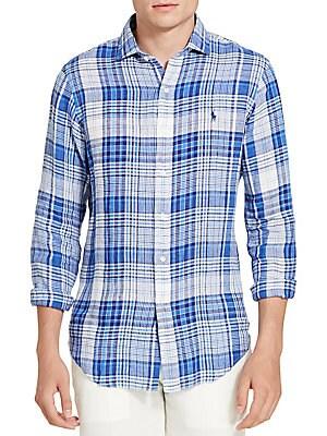 Plaid Linen Sportshirt