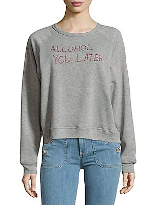 Long-Sleeve Heathered Pullover