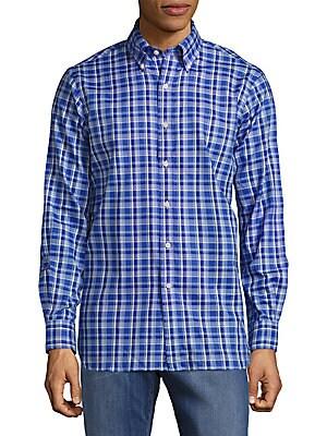 Plaid Cotton Classic-Fit Shirt
