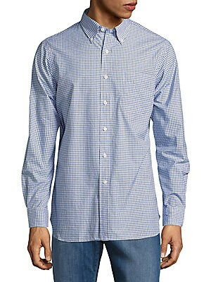 Check-Pattern Cotton Shirt