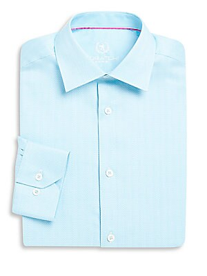 Shaped-Fit Cotton Dress Shirt