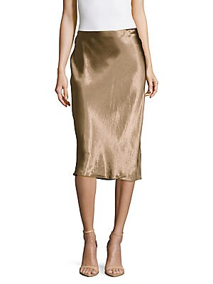 Metallic Pull-On Skirt