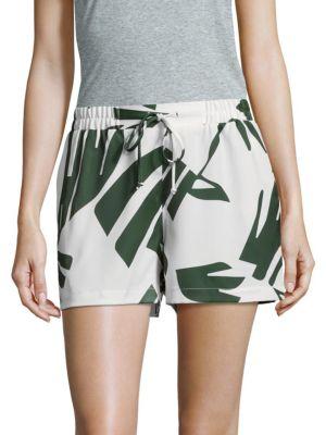Palm Print Overlay Shorts Saks Fifth Avenue