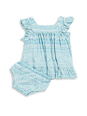 Baby's & Little Girl's Sabrina Squareneck Printed Dress
