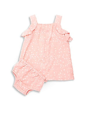 Baby's Two-Piece Nora Star-Print Dress & Bloomers Set