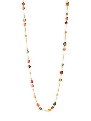Click here for 18K Rose Gold & Mixed Sapphire Necklace prices