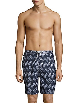 Pineapple-Print Swim Shorts