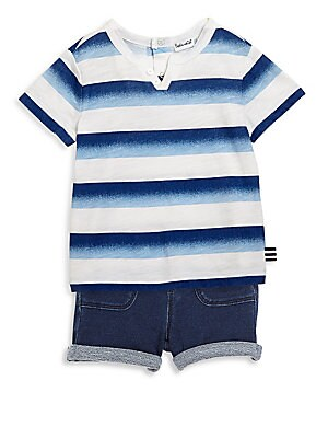 Baby's Two-Piece Striped Top & Bottom Set