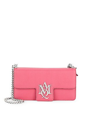 Insignia Leather Clutch
