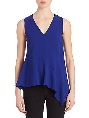 Satin Asymmetrical Top