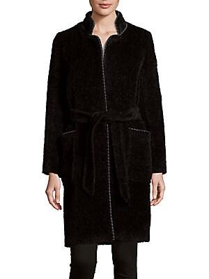 Tie-Front Wool Coat