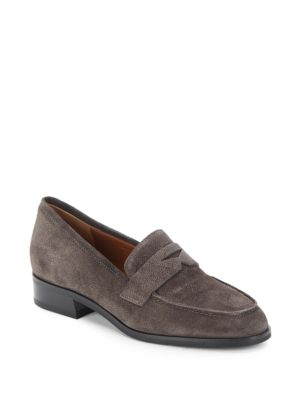 Sharon Pebbled Leather Loafers