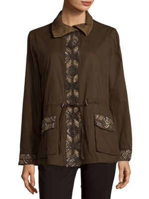 Embroidered Eagle Long-Sleeve Jacket