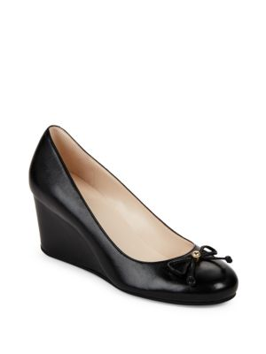 Elsie Leather Wedge Pumps