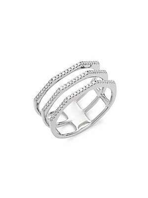 Click here for Diamond & 14K White Gold Three-Row Ring prices